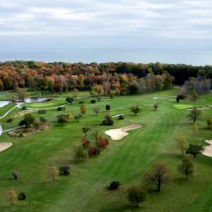 Whisky Run GC - Aerial view of the Fox nine