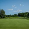 A view of a green protected by bunkers at Upper Unionville Golf Club.