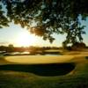A sunny day view of a green at Upper Unionville Golf Club.