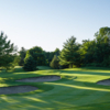 A sunny day view of a green at Diamond from Deer Creek North Course.