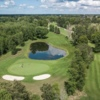 Aerial view of the 6th green from Perth Golf Course.