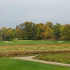 A view of the 1st green at Dufferin Glen Golf Club
