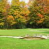 Autumn view of a hole at Orchard Beach Golf and Country Club