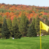 A fall view from a green at Beaverbrook Golf Course