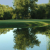 A view over the water of the 4th green at Whitevale Golf Club