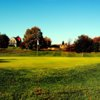 A fall day view of a hole at Lyndway Hills Golf Course
