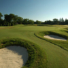 A view of a green protected by bunkers at Hamilton Golf and Country Club