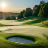 A sunny day view of a green at Rosedale Golf Club