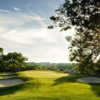 A view of a hole surrounded by tricky bunkers at Brantford Golf and Country Club