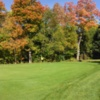 A fall day view of hole #9 at Senjan Golf Club