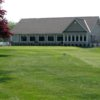 A view of the clubhouse overlooking the 9th green at Bluewater Golf Course