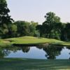 A view of a hole with water coming into play at Bear Creek Golf Club