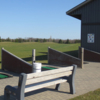 A view of the driving range at Woodstock Meadows Golf Club