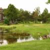 A view of a tee at Juniper Fairways Golf Club.