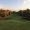 A fall day view of a fairway at Pheasant Run Golf Club.