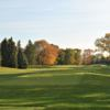 A fall day view from a tee at Lambton Golf and Country Club.