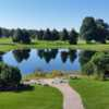 A view over a pond at Pine Knot Golf and Country Club.